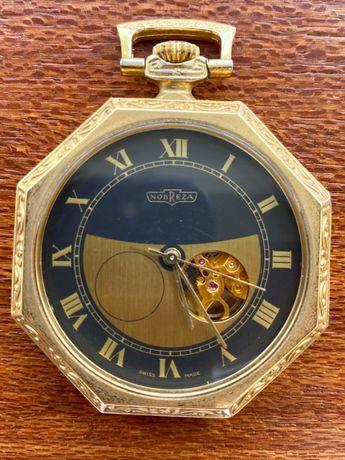 Relógio de bolso Nobreza Plaqueado a Ouro