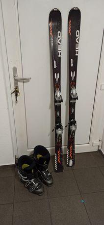 Buty narciarskie plus narty