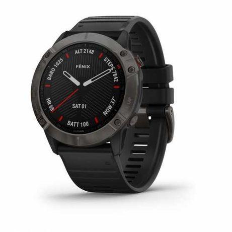 Годинник для мультиспорту Garmin Fenix 6X Sapphire Carbon DLC