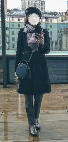 Пальто  чёрное Monton