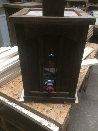 Pipo de madeira para box de vinho 5L - NOVO