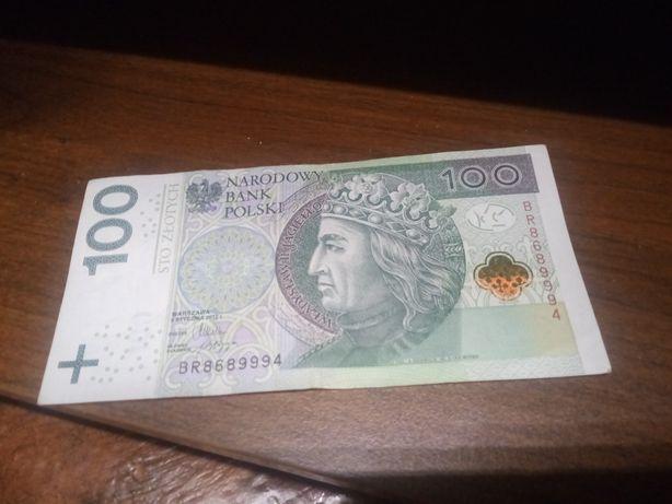 Banknot 100 zł z numerami 999 2 szt