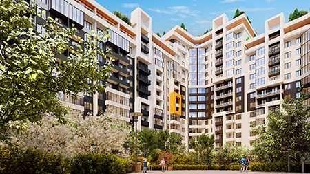 71 м.кв. Двухкомнатная квартира с ТЕРРАСОЙ. Цена 42 тыс.