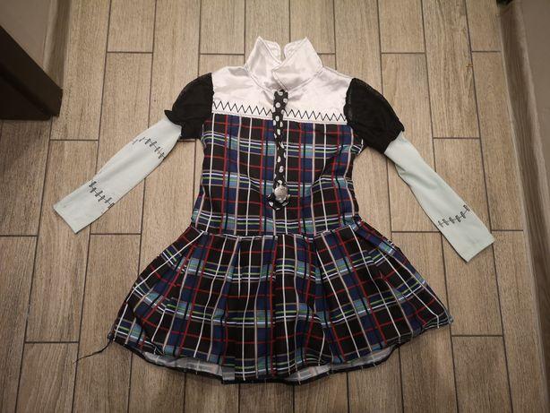 Sukienka lalki Frankie halloween Monster High Frankenstein rozm6-7lat