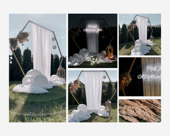 Neon weselny, napis, brama/ścianka weselna, dekoracje weselne, miłość