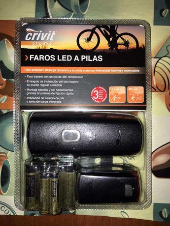 Комплект света LED на велосипед (Фара-Габарит+Батарейки)