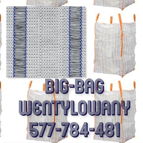 Wentylowany Big Bag na warzywa - marchew kapustę ziemniaki 90/90/180cm