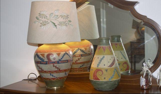 Candeeiro de mesa + jarrão