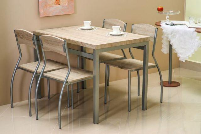 Zestaw kuchenny stół i 4 krzesła ASTROs dąb sonoma tylko 599 zł KURIER