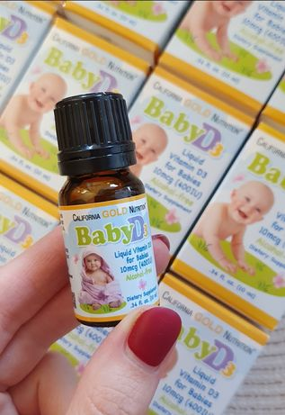 California GOLD Nutrition вітамін D3 витамин д для малышей детей капли