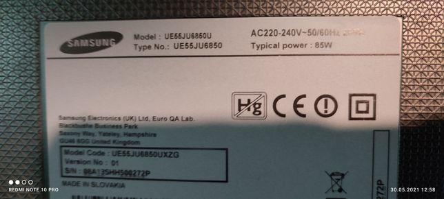 Samsung UE55JU6850U płyta główna zasilacz
