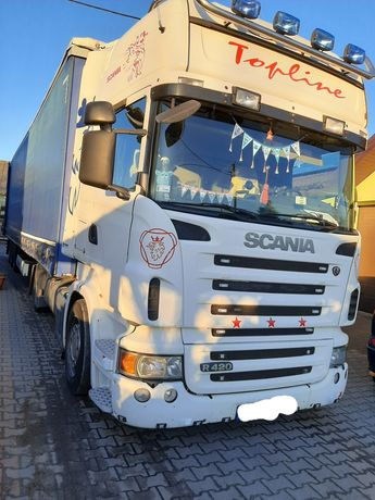 Transport TIR Naczepa 24T Firanka Plandeka Krajowy Ciężarowy