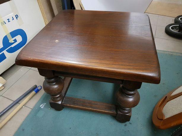 Stolik drewniany dębowy kawowy kolor palisander pełne drewno