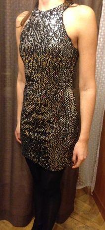 Srebrna mini sukienka cekiny Atmosphere R.S