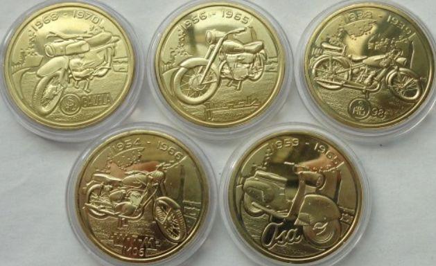 kolekcja 5 x kultowe polskie motocykle, mennica polska