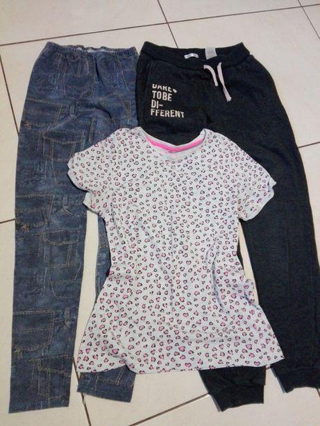 Paka zestaw 7 ubrań dziewczynka r. 158
