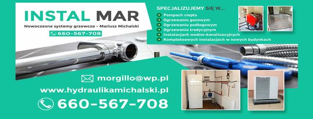 Hydraulik instalator c.o woda gaz pompy ciepla