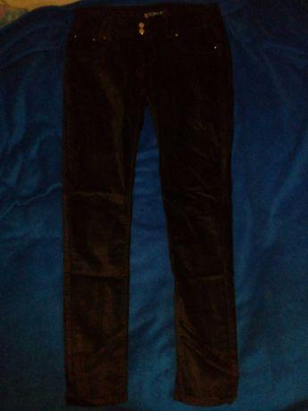 Spodnie eleganckie a la welur