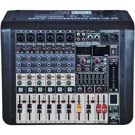 Mikser Audio Monacor ZZIPP ZZMX6PR USB/BT/EFX 6-Kanałów