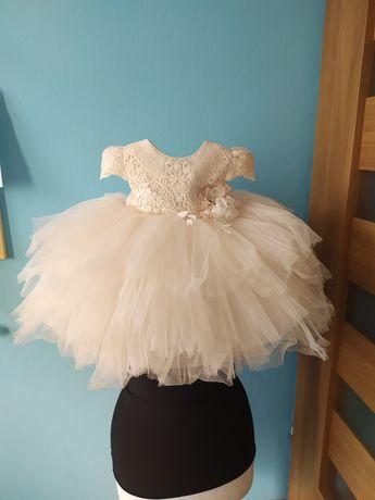 Sukienka na ślub Princessa princess , chrzest , wesele , plus bolerko