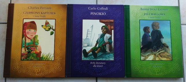 """""""Perły literatury dla dzieci"""" 3 książki z serii"""