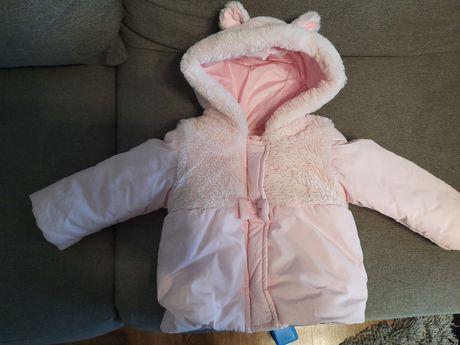 Тепла курточка розмір 9-12 місяців