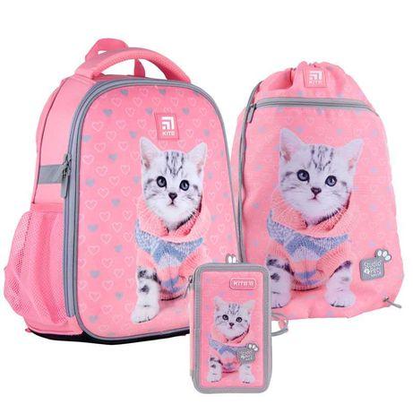 Школьный комплект Кайт Рюкзак каркасный, пенал, сумка. Kite
