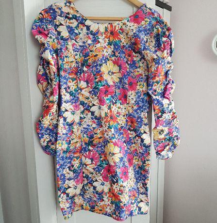 Sukienka kwiaty mini Zara M/L