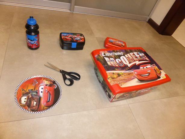 Pixar Disney Cars - Pudełka, bidon, talerz (zestaw) Zygzak McQuee