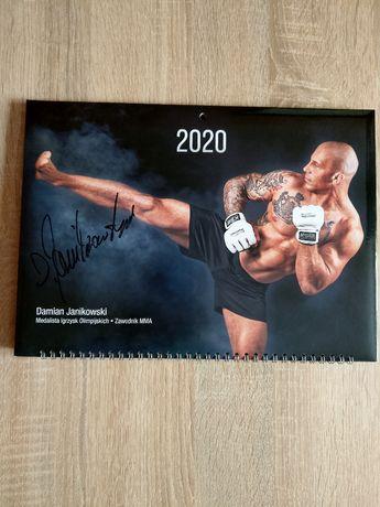 Kalendarz 2020 trójdzielny z autografem Damian Janikowski