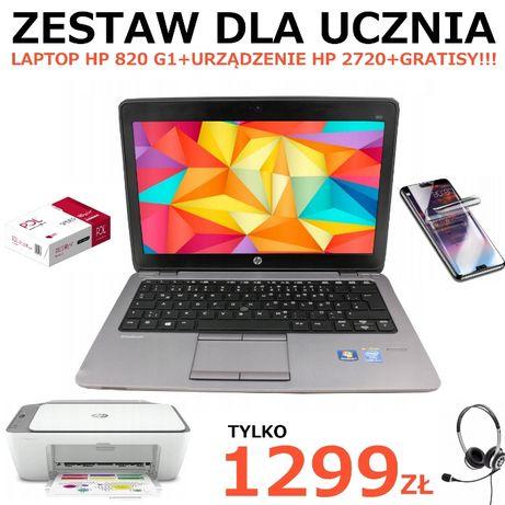 ZESTAW DLA UCZNIA!! Laptop HP 820 G1+Drukarka HP2720 NOWA!