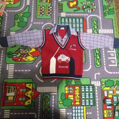 Рубашка-обманка, 3-4 года, 98- 104, фирма kids