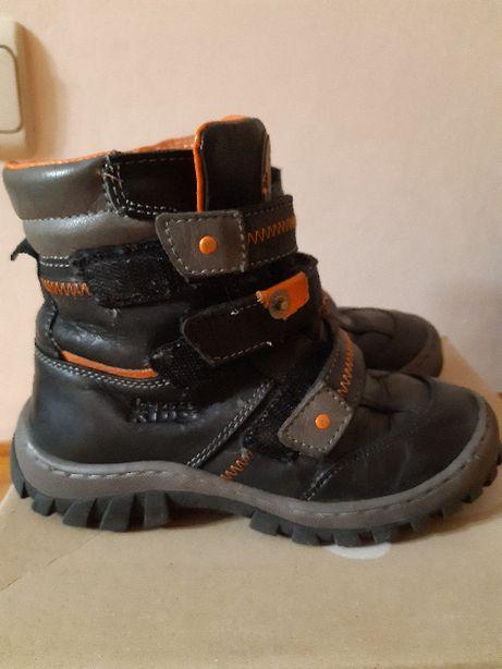 Skórzane buciki, kozaki zimowe, rozm. 28 Firma Lasocki CCC