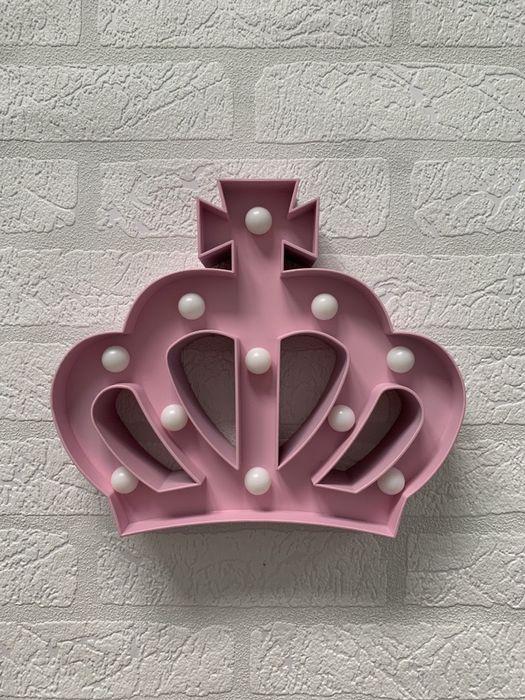 różowa LAMPKA w kształcie korony Warszawa - image 1