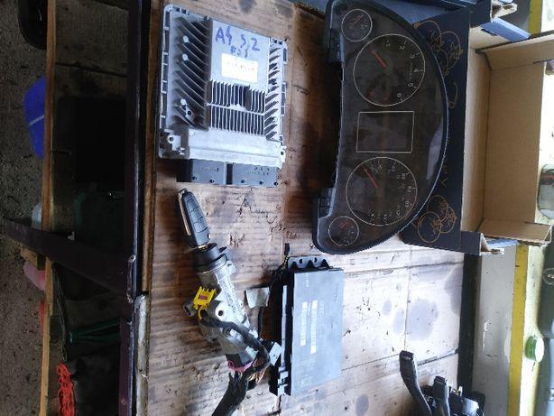 sterownik silnika zestaw startowy kaplet audi a4 b7 3,2FSI