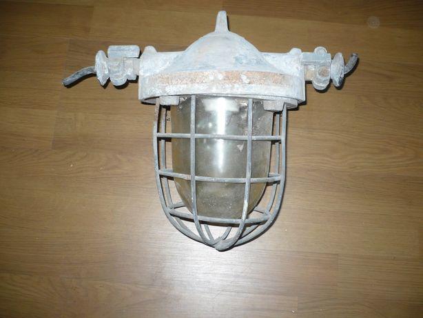 Oryginalna stara przemysłowa lampa duża Loft