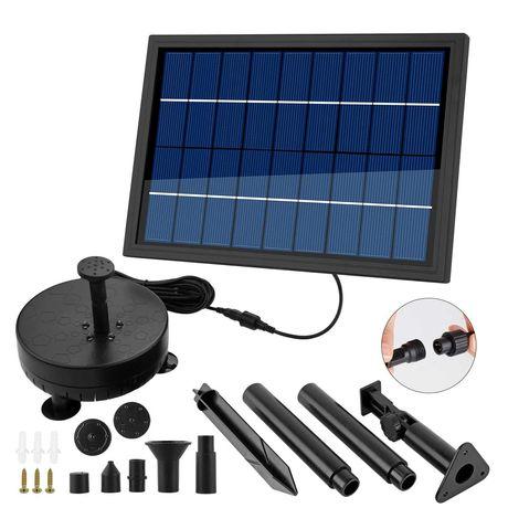 Fontanna solarna z akumulatorem pompa wodna 8W LED