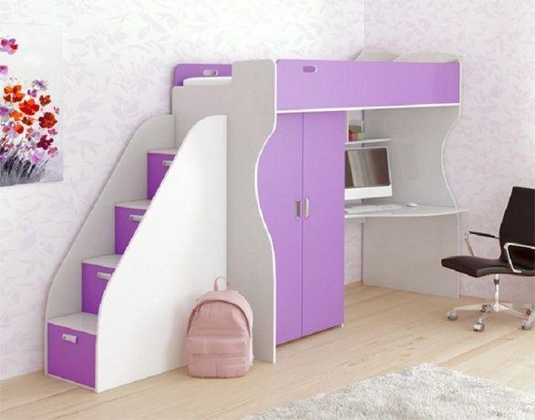 Кровать-чердак детский уголок