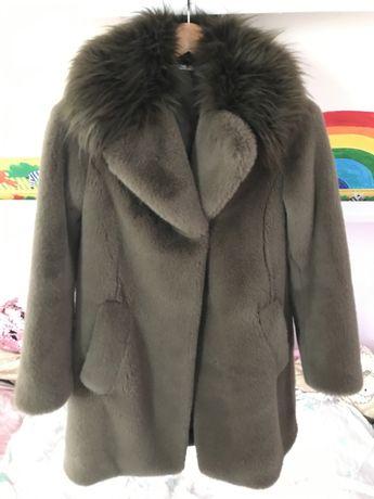 Plaszcz Futerko Futro kurtka zimowa Tkmaxx Diane von Furtstenberg XS