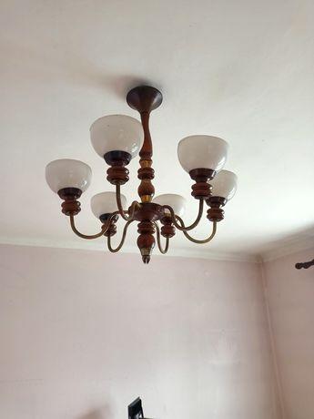 Żyrandol lampa PRL antyk