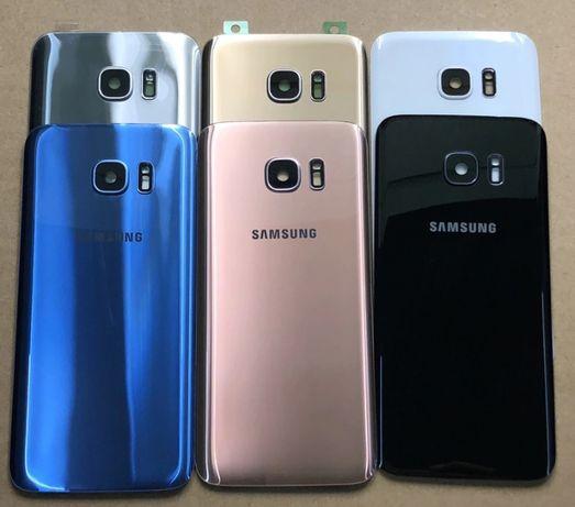 Traseira em vidro com lente de camera para Samsung Galaxy S7 e S7 Edge