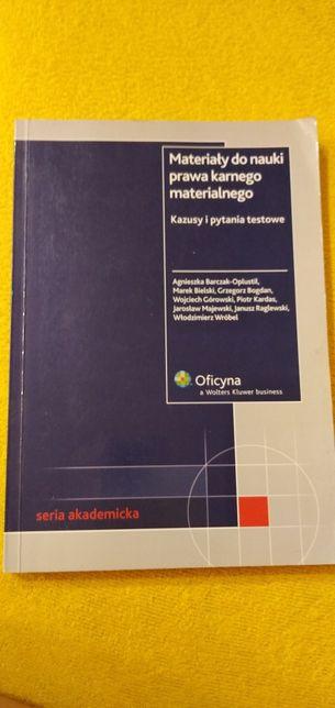 Materiały do nauki prawa karnego materialnego kazusy i pytania testowe
