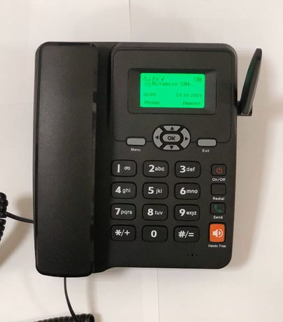 Стационарный GSM телефон Etross 6588 на 2 сим карты бабушкафон