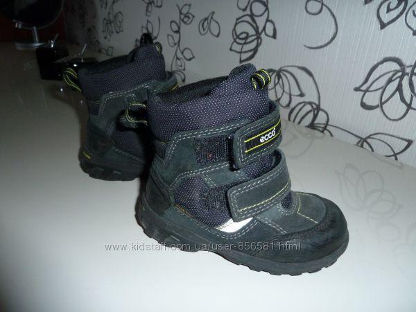 ECCO gore- tex зима 24 размер тэрмо обувь по стельке 15-15. 5 см