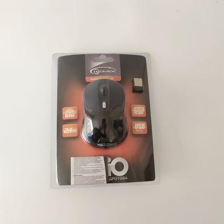 Миша Gemix черная беспроводная