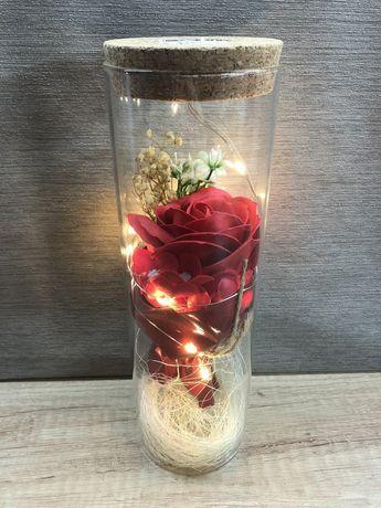 Подарочная коробка с роз с подсветкой