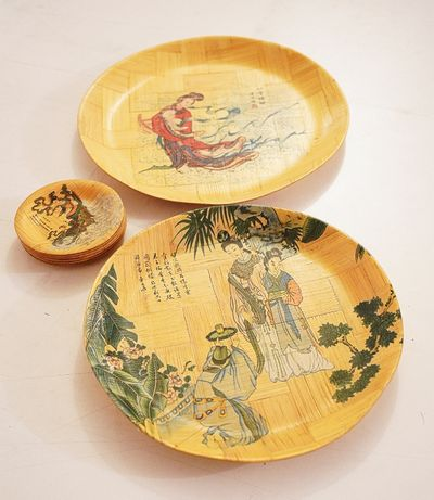 Pratos chineses (em Bambu)