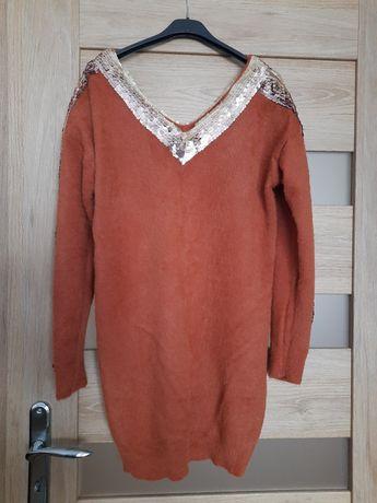 Sweter/ tunika z cekinami