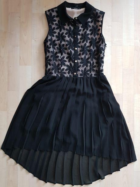 Sukienka OASIS 34 czarna kwiaty