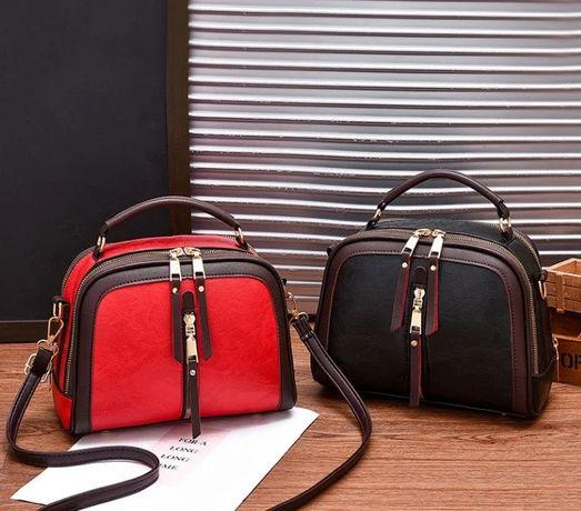 Женская стильная новая кожаная популярная новая черная сумка клатч топ